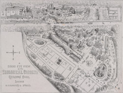 A birds eye view of the Zoological Gardens, Regents Park
